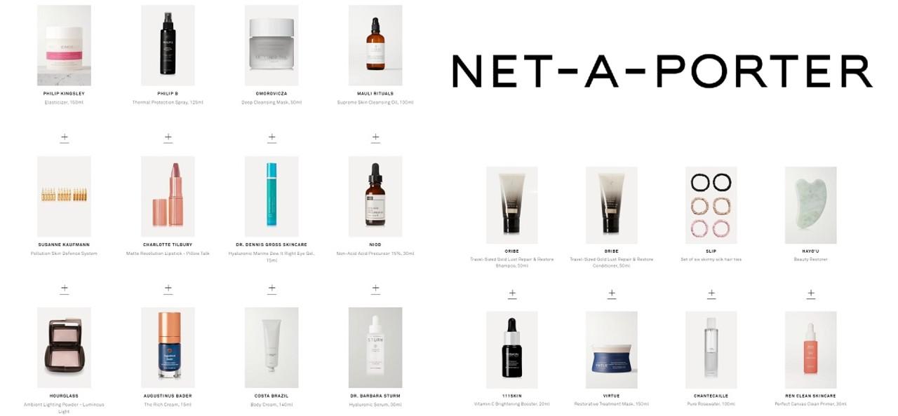 Net a Porter 2020 productos calendario