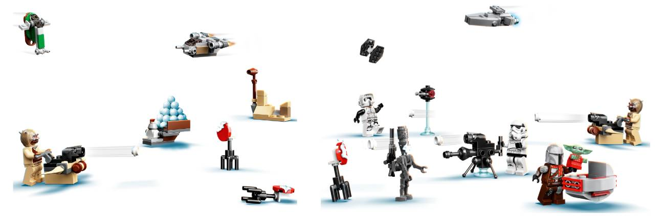 calendario Lego 2021 de Star Wars The Mandalorian