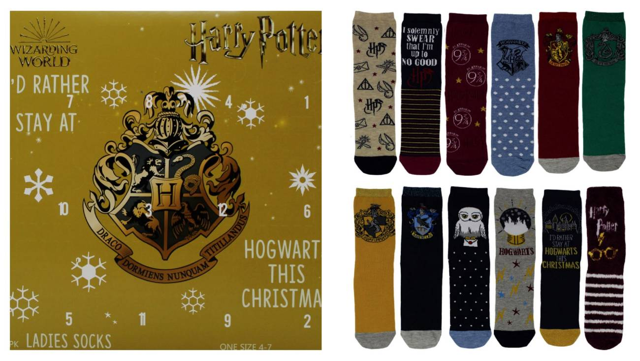 calendario calcetines Harry Potter 2020