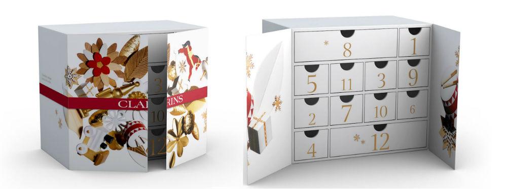 Calendario Clarins 12 productos icónicos para un look de fiesta 2019