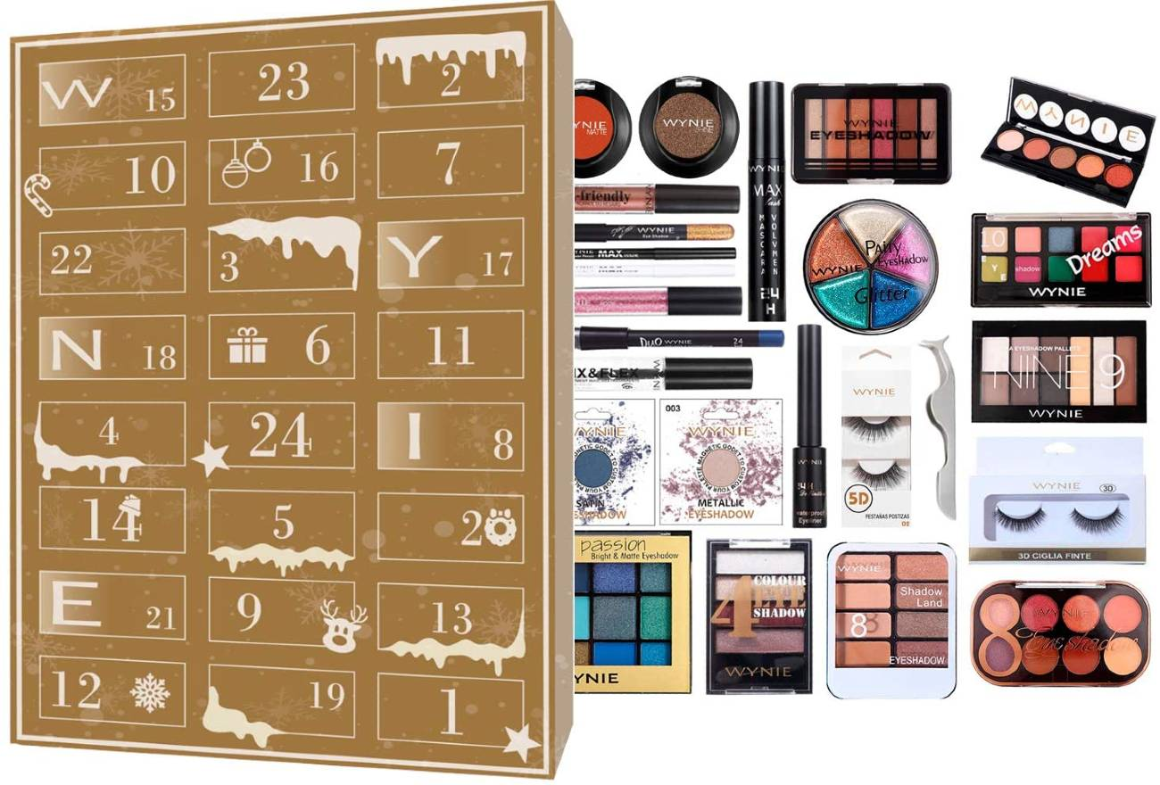 calendario de adviento Wynie 2020 maquillaje ojos