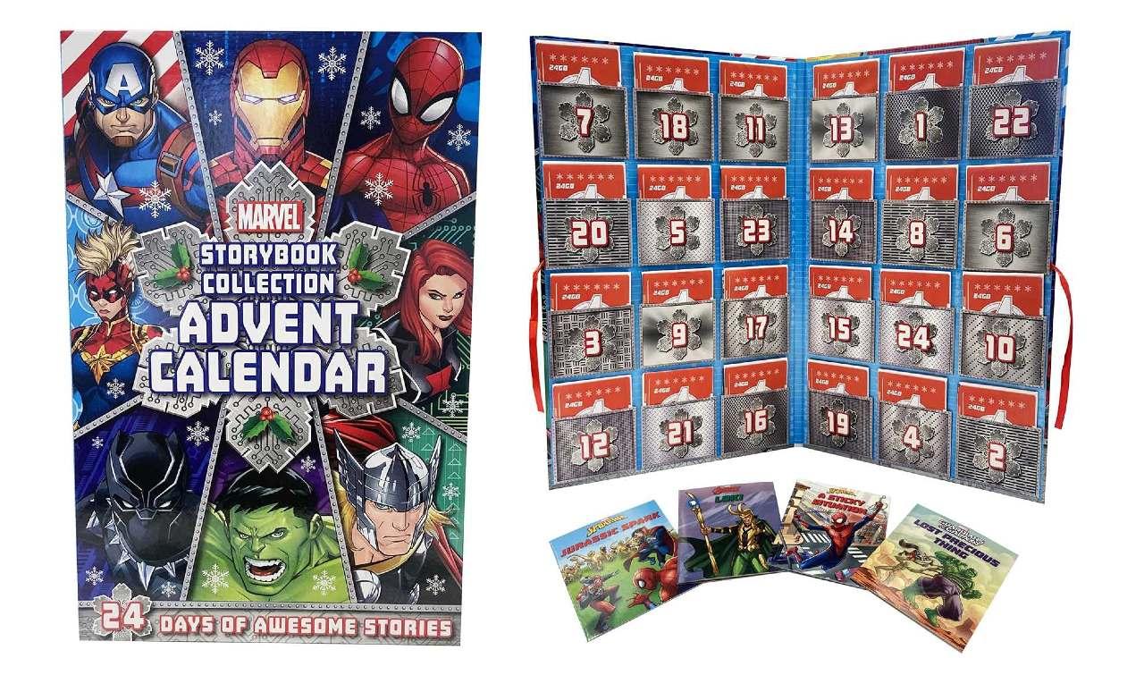 Calendario de Adviento de libros de Marvel 2021