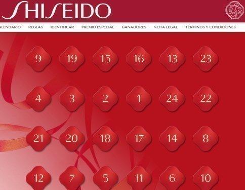 calendario de adviento shiseido