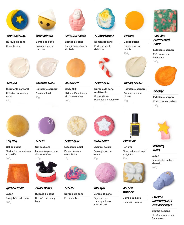 productos del calendario Lush 2020