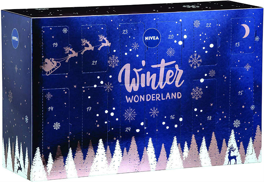 calendario nivea 2019 winter wonderland
