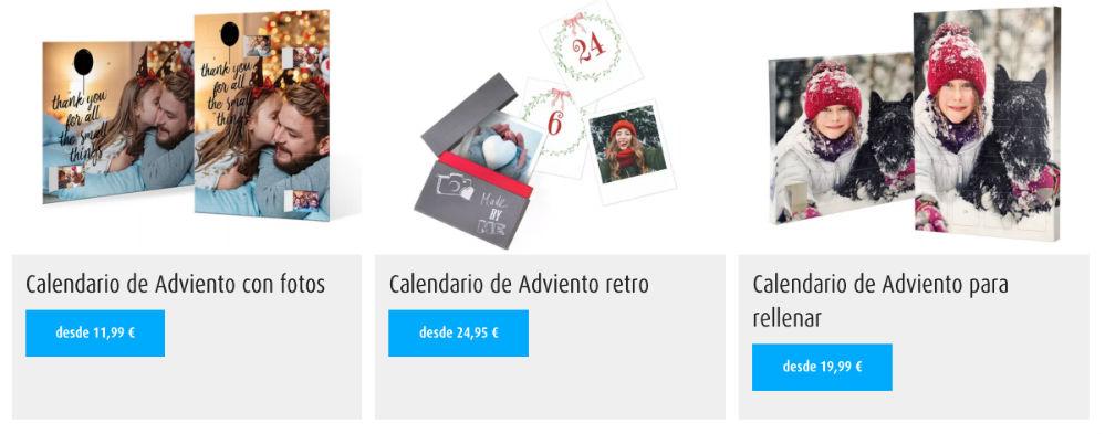calendarios de adviento personalizados con foto