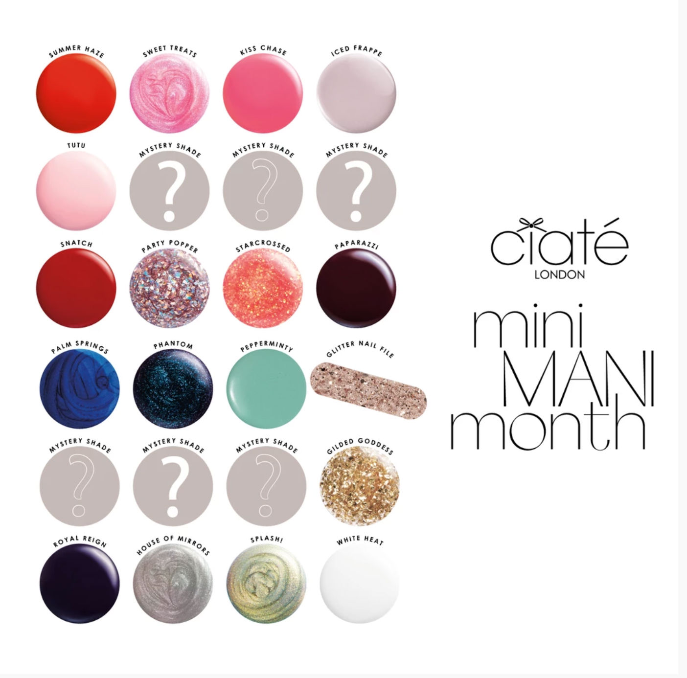 Ciaté London 2019 Mini Mani Month