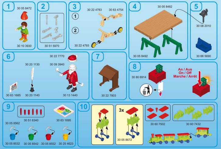 Montaje Calendario Adviento Playmobil Taller de Navidad 2018