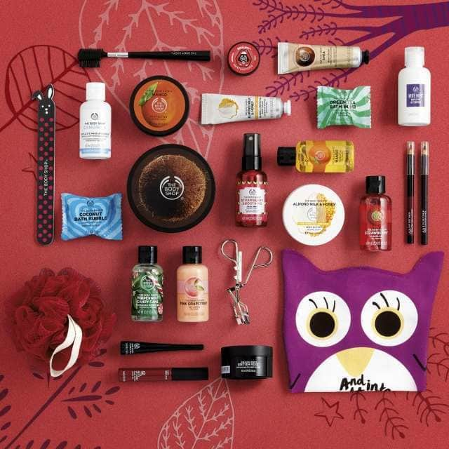 Productos del calendario Encantado Deluxe 2018 Body Shop
